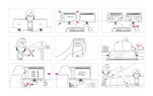 Qviv storyboard explanimation cleverdesk